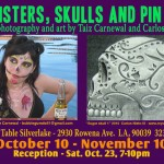 Monsters Skulls and Pin Ups flyer